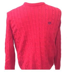 men's chaps sweater red knitted